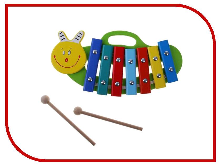 Детский музыкальный инструмент Alatoys Ксилофон Улитка КС0701