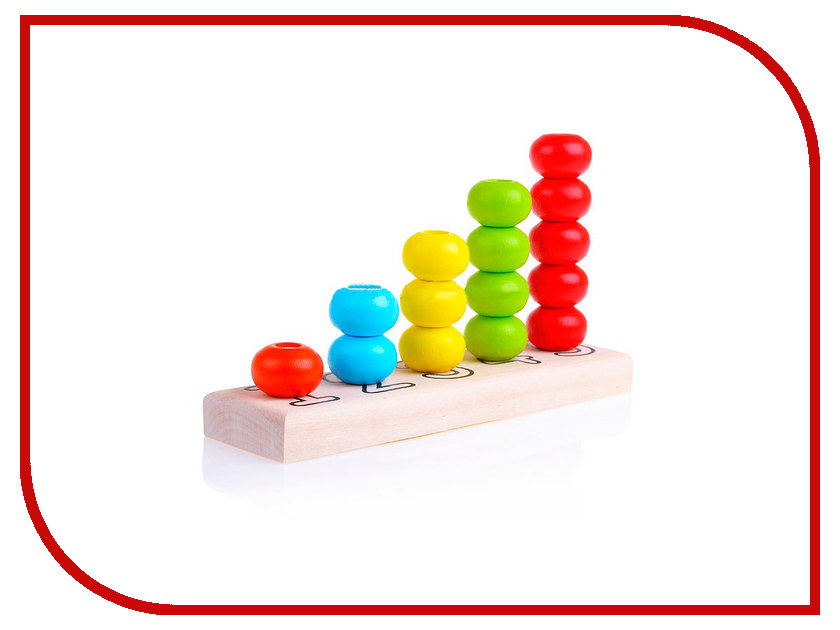 Фото Игрушка Alatoys Пирамидка счеты ПСЧ3001 игрушка счеты