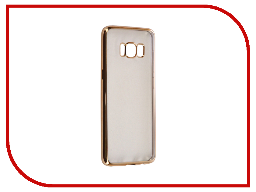 Аксессуар Чехол Samsung Galaxy S8 iBox Blaze Silicone Gold frame