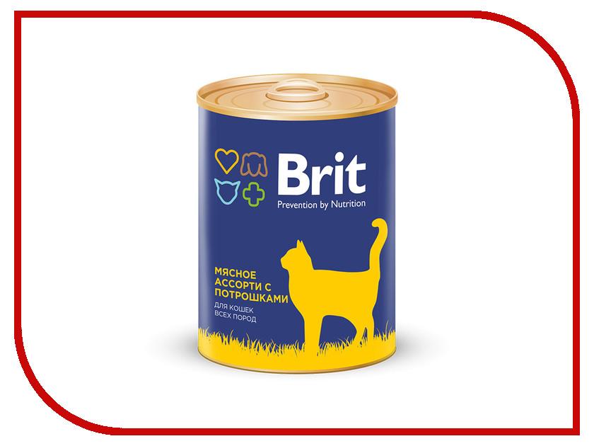 Корм Brit мясное ассорти с потрошками 340g 9433 alpha hydrox 12% 340g