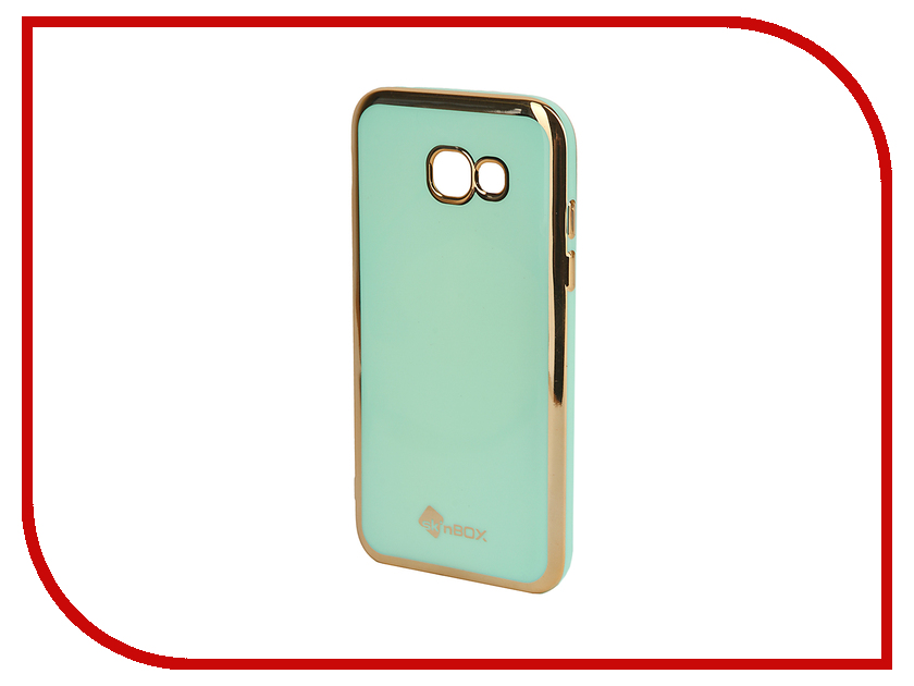 Аксессуар Чехол-накладка для Samsung Galaxy A5 (2017) SkinBox Silicone Mint T-S-SGA52017n-005 чехлы для телефонов skinbox накладка для samsung g355 galaxy core 2 skinbox