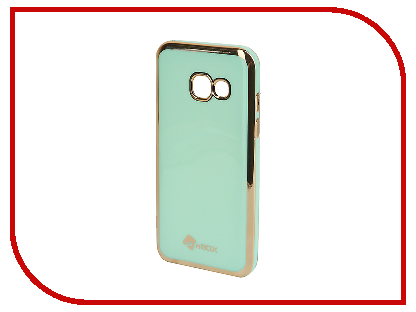 Аксессуар Чехол-накладка Samsung Galaxy A3 (2017) SkinBox Silicone Mint T-S-SGA32017n-005 аксессуар чехол накладка samsung galaxy a3 2017 skinbox silicone chrome border 4people silver t s sga32017 008