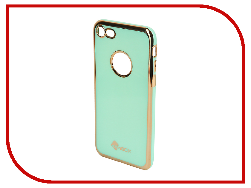 Аксессуар Чехол SkinBox Slim Silicone Color для iPhone 7 Mint T-S-AI7n-005 аксессуар чехол skinbox для iphone 7 multicolor t s ai7n 011