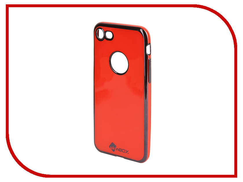 Аксессуар Чехол SkinBox Slim Silicone Color для iPhone 7 Red T-S-AI7n-005<br>