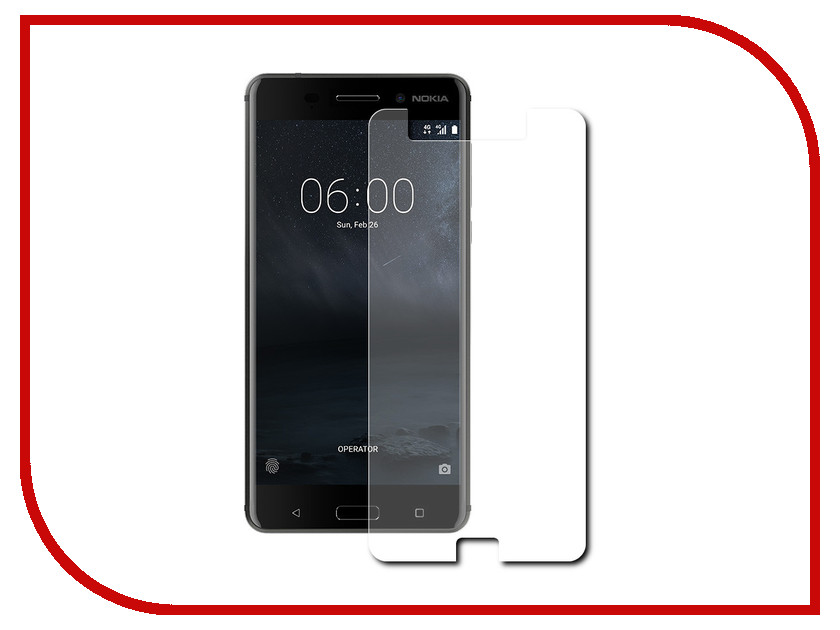 Аксессуар Защитная пленка Nokia 6 5.5 Red Line