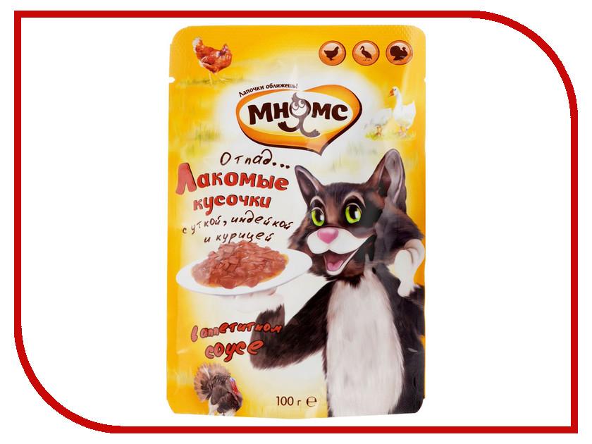 Корм Мнямс Мясной карнавал Утка/Индейка/Курица 100g 703096 для кошек