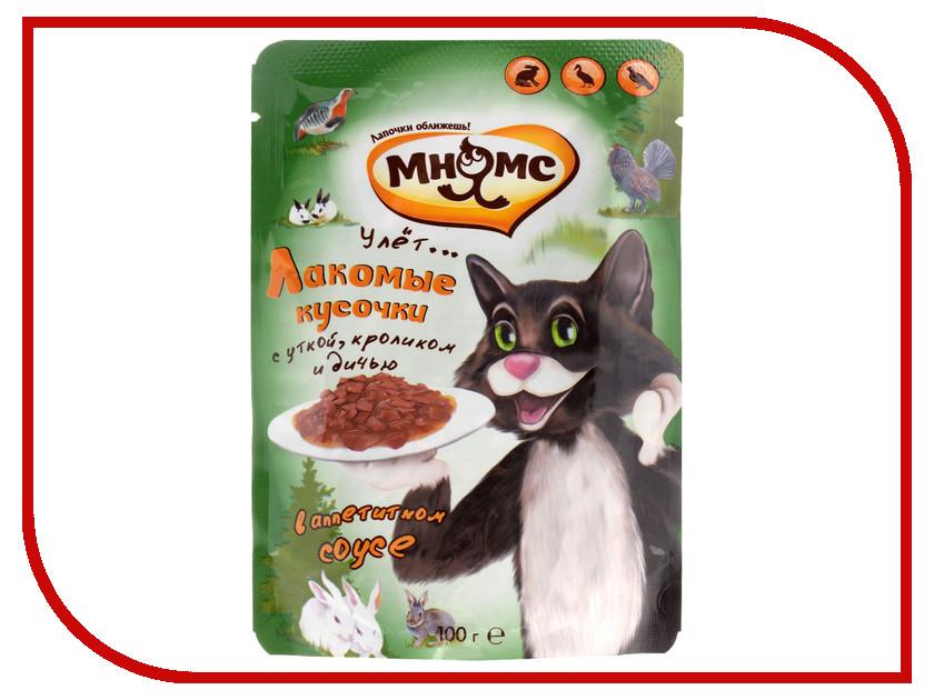 Корм Мнямс Пир охотника Утка/Кролик/Дичь 100g 703089 для кошек