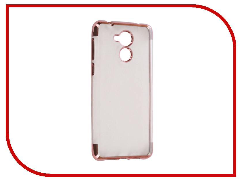 Аксессуар Чехол Huawei Honor 6C iBox Blaze Silicone Pink frame аксессуар чехол ibox blaze для apple iphone 5 5s se pink
