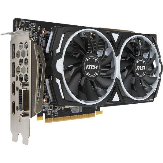 Видеокарта MSI Radeon RX 580 1366Mhz PCI-E 3.0 8192Mb 8000Mhz 256 bit DVI 2xHDMI HDCP ARMOR 8G OC