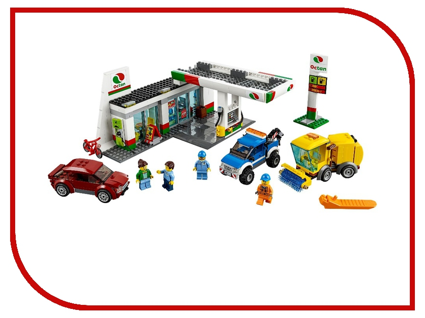 Конструктор Lego City Станция технического обслуживания 60132 lego city конструктор внедорожник каскадера 60146