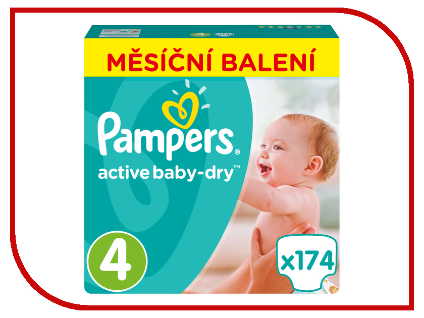 Подгузники Pampers Active Baby-Dry Maxi 8-14кг 174шт 8001090172556 подгузники pampers active baby dry размер 4 7 14 кг 132 шт