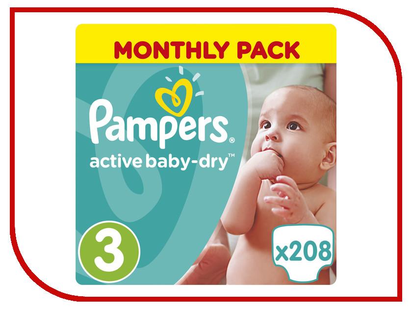 6c3147f23621 Pampers Active Baby-Dry 3   208 pcs – купить подгузники, сравнение ...