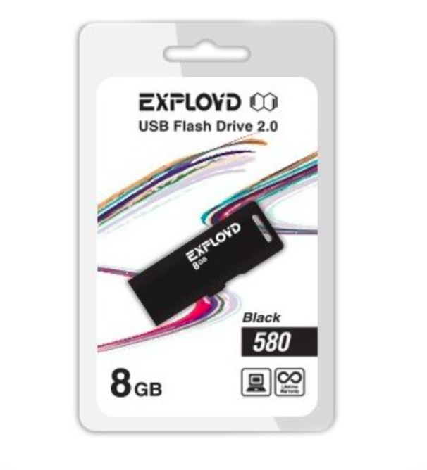USB Flash Drive 8Gb - Exployd 580 EX-8GB-580-Black повод 580