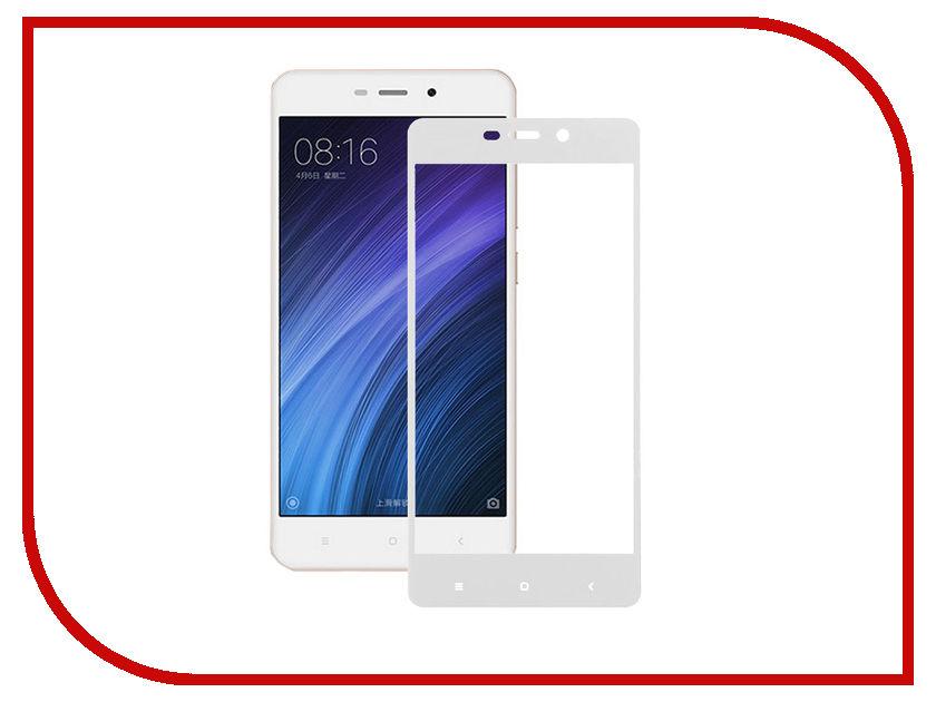 Аксессуар Закаленное стекло Xiaomi Redmi 4A DF Full Screen xiColor-08 White аксессуар закаленное стекло df isteel 06 для iphone 6