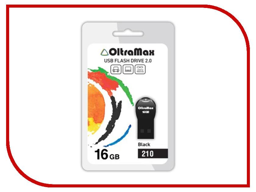 USB Flash Drive 16Gb - OltraMax 210 OM-16GB-210-Black