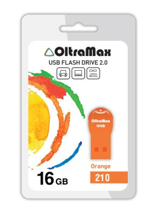 USB Flash Drive 16Gb - OltraMax 210 OM-16GB-210-Orange