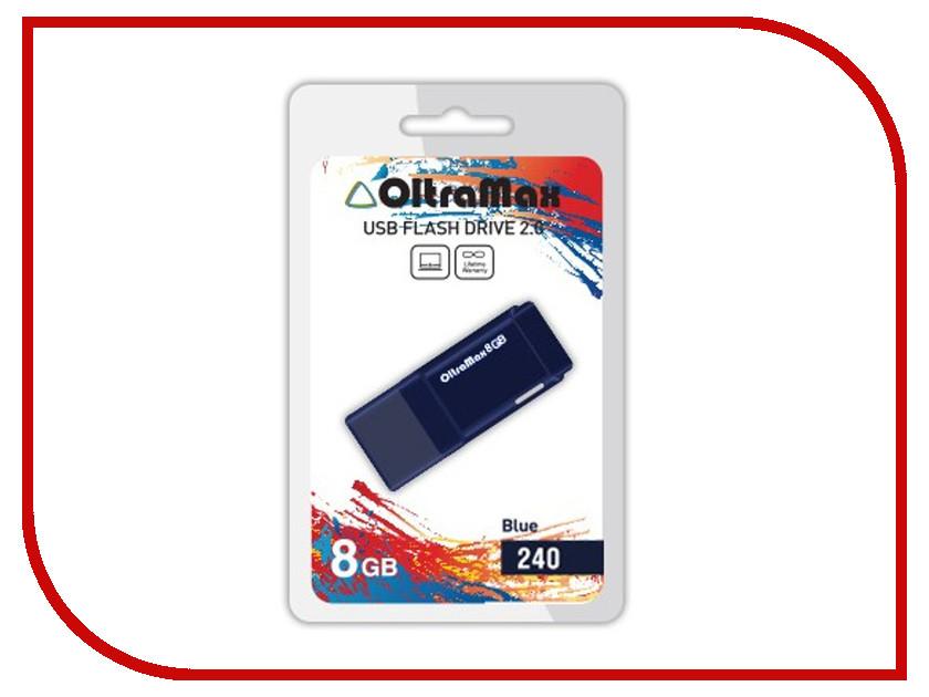 USB Flash Drive 8Gb - OltraMax 240 OM-8GB-240-Blue