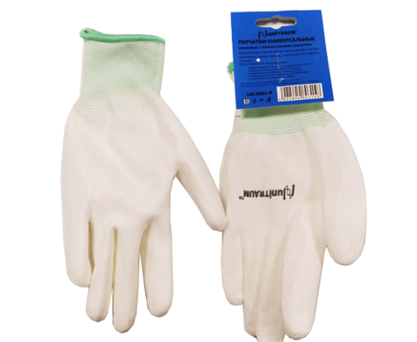 Перчатки Unitraum размер 9 White UN-P001-9