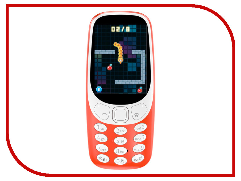 Сотовый телефон Nokia 3310 (2017) Red сотовый телефон nokia 3310 2017 blue