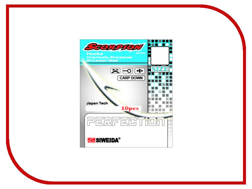 Крючки Siweida SWD Scorpion Carp Down №1 BLN W/R 10шт 3404201 удилище siweida swd maverick 3 6m im8 2411036
