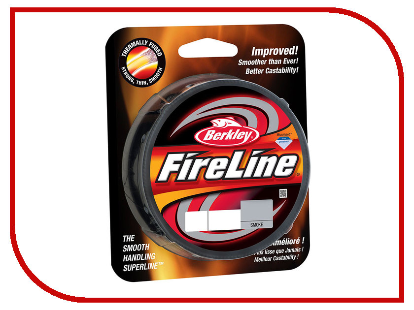 Шнур плетёный Berkley FireLine Smoke 0.25mm 110m 17.5kg Grey 1308659