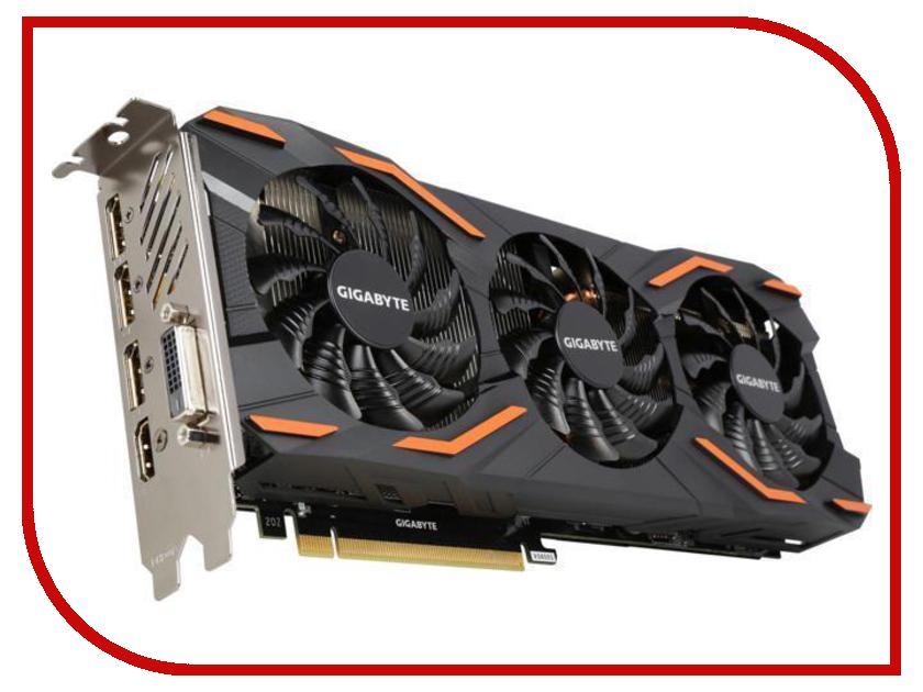 Видеокарта GigaByte GeForce GTX 1080 1607Mhz PCI-E 3.0 8192Mb 10000Mhz 256 bit DVI HDMI HDCP GV-N1080D5X-8GD gigabyte brix gb bki3ha 7100
