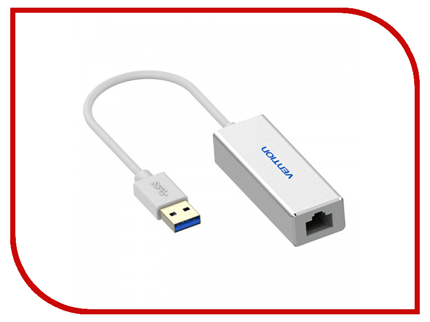 Сетевая карта Vention USB 3.0 M to RJ45 F Silver CEFIB etmakit hot selling universal firewire 6 pin f to usb m adaptor convertor adapter for pc laptop computer black