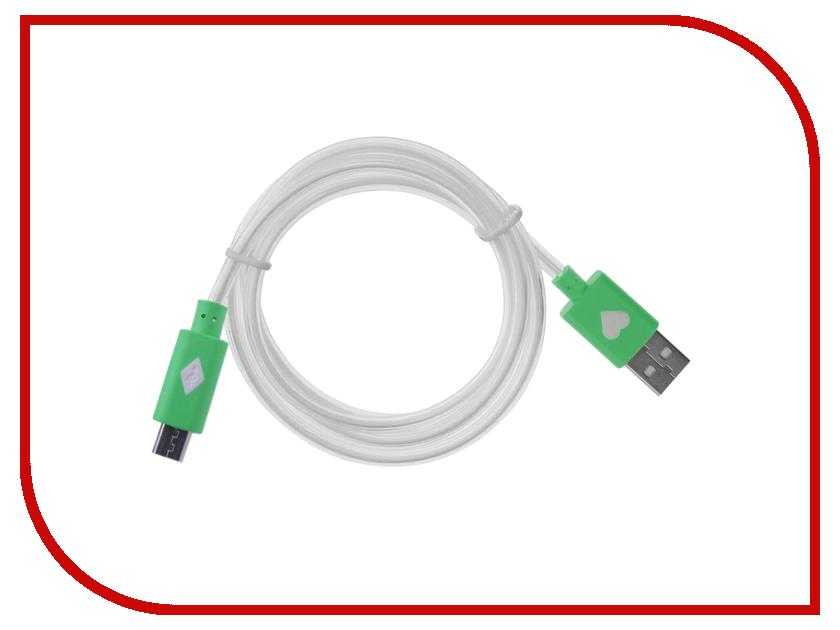 Аксессуар WIIIX USB - Micro USB 1m Green CBL710-UMU-10G