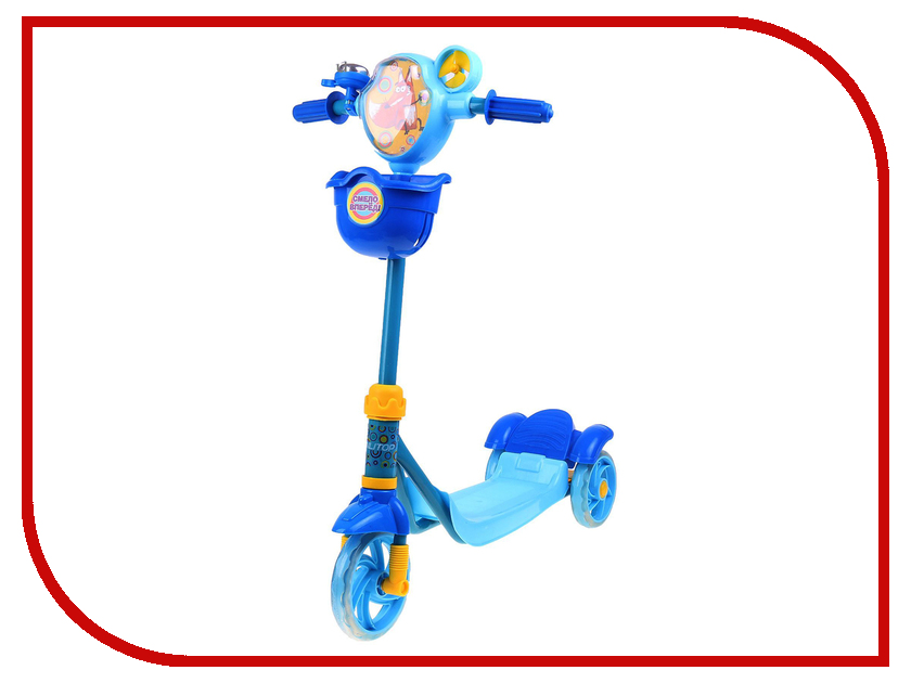 Самокат Onlitop FOX ОТ-3636 Blue 1693798 коньки onlitop 38 41 blue black 1231419