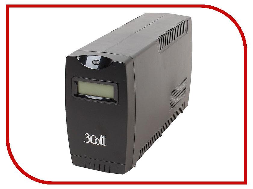 Источник бесперебойного питания 3Cott Smart 850VA 480W Display