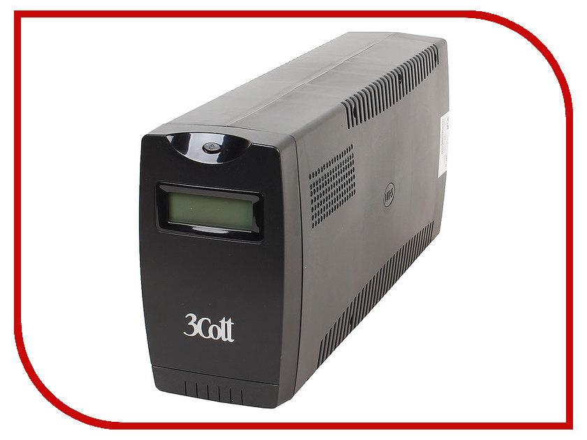 Источник бесперебойного питания 3Cott Smart 1000VA 600W Display