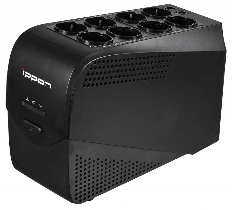 Источник бесперебойного питания Ippon Back Comfo Pro New 600 источник бесперебойного питания ippon back power pro lcd 400