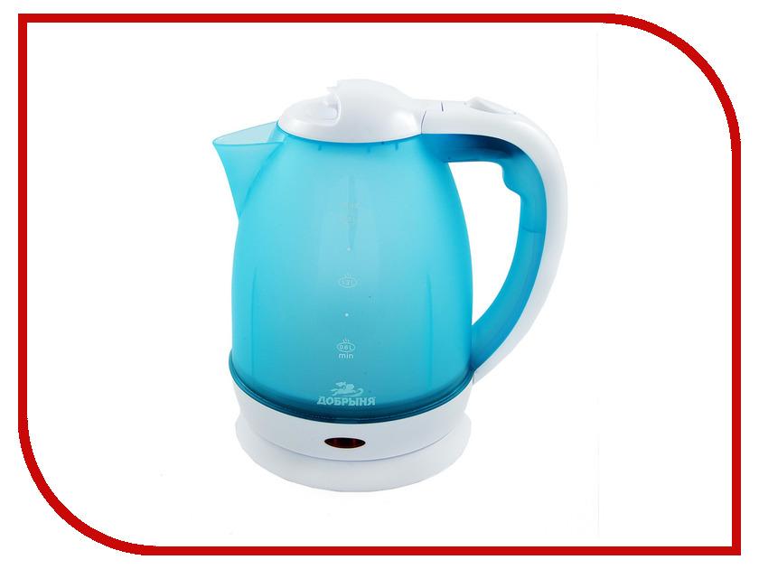 Чайник Добрыня DO-1226 Light Blue цена и фото