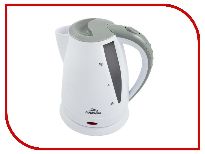 Чайник Добрыня DO-1225 White-Grey цена и фото