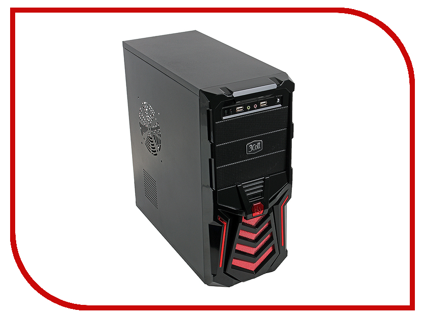 Корпус 3Cott 3C-ATX110GR 500W цена