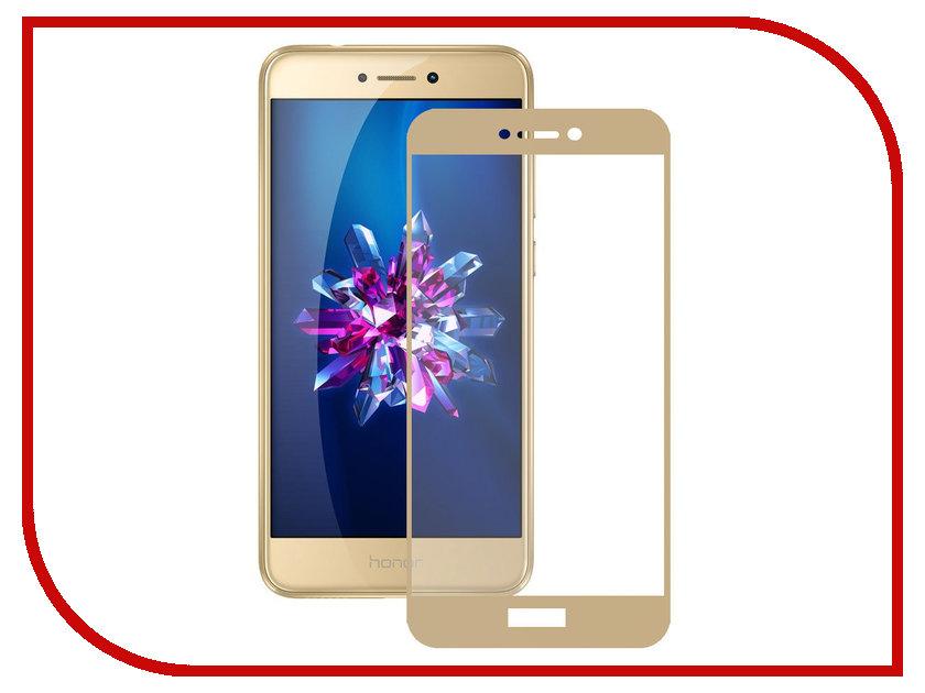 Аксессуар Защитное стекло Huawei Honor 8 Lite Zibelino TG Full Screen Gold 0.33mm 2.5D ZTG-FS-HUA-HON8-LIT-GLD аксессуар чехол huawei honor 8 lite zibelino classico black zcl hua 8lit blk