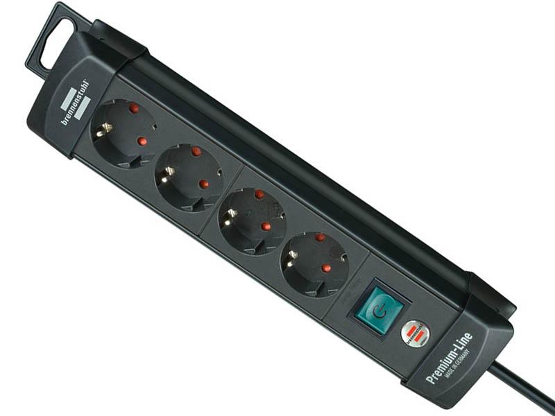 Удлинитель Brennenstuhl Premium-Line 4 Sockets 1.8m Black 1951140100