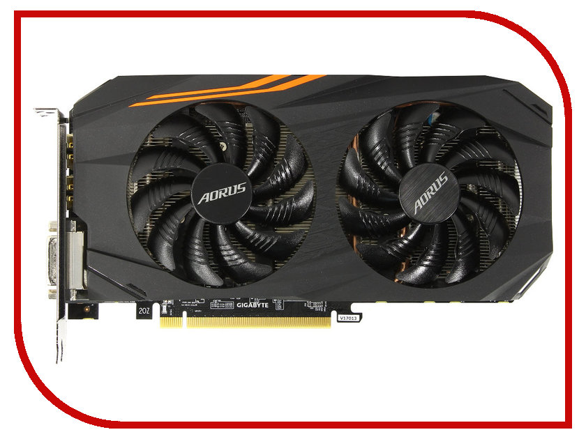 Видеокарта Gigabyte Radeon RX 580 Aorus 1365Mhz PCI-E 3.0 8192Mb 8000Mhz 256 bit DVI HDMI HDCP GV-RX580AORUS-8GD видеокарта gigabyte 8192mb rx 580 gv rx580gaming 8gd 3xdp hdmi dvi ret