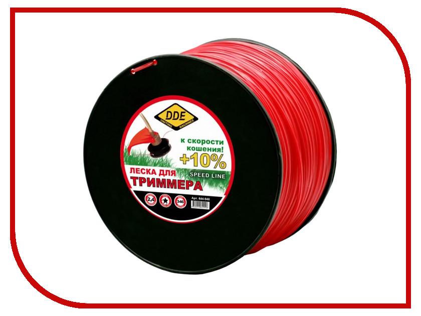 644-948  Аксессуар Леска для триммера DDE Speed Line 2.4mm x 346m Red 644-948