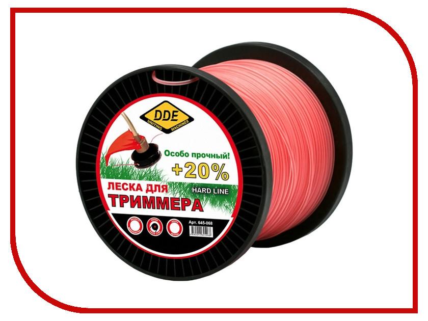 Аксессуар Леска для триммера DDE Hard Line 3.0mm x 120m Grey-Red 241-956 головка dde гм 50