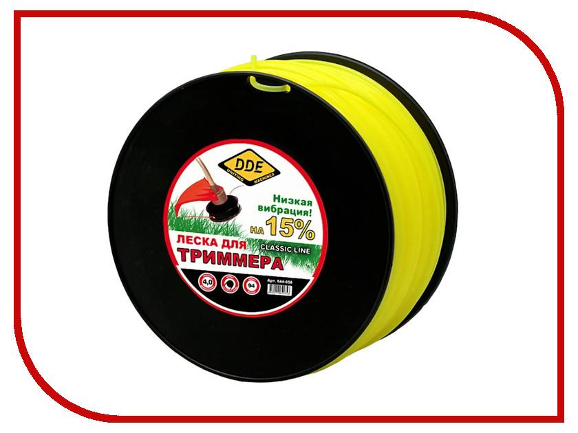 Аксессуар Леска для триммера DDE Classic Line 4.0mm x 94m Yellow 644-856 аксессуар катушка для триммера dde wind 640 094