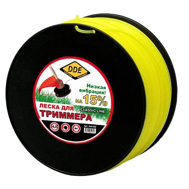Леска для триммера DDE Classic Line 4.0mm x 94m Yellow 644-856