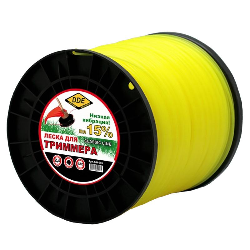 Леска для триммера DDE Classic Line 2.4mm x 432m Yellow 644-795