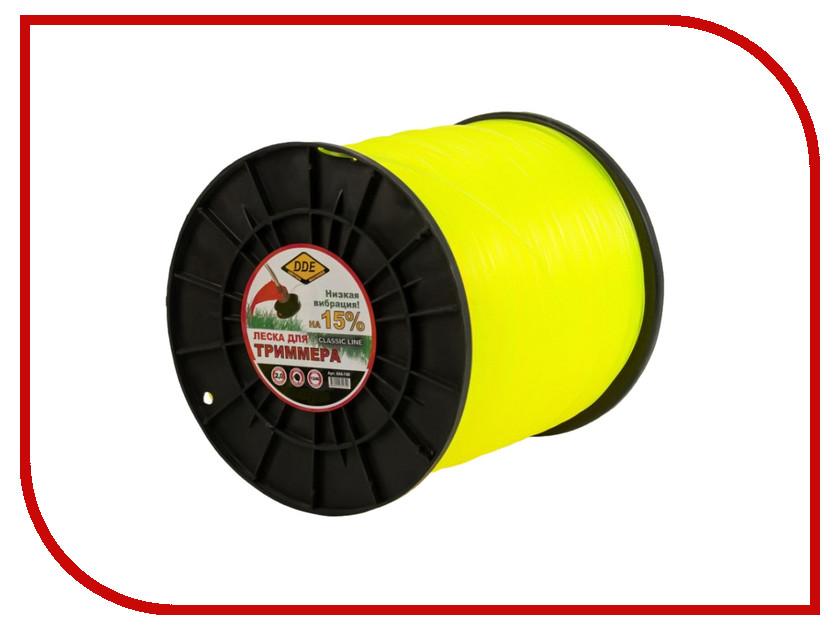 644-740  Аксессуар Леска для триммера DDE Classic Line 2.0mm x 1246m Yellow 644-740