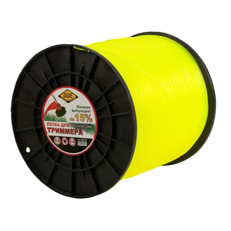 Леска для триммера DDE Classic Line 2.0mm x 1246m Yellow 644-740
