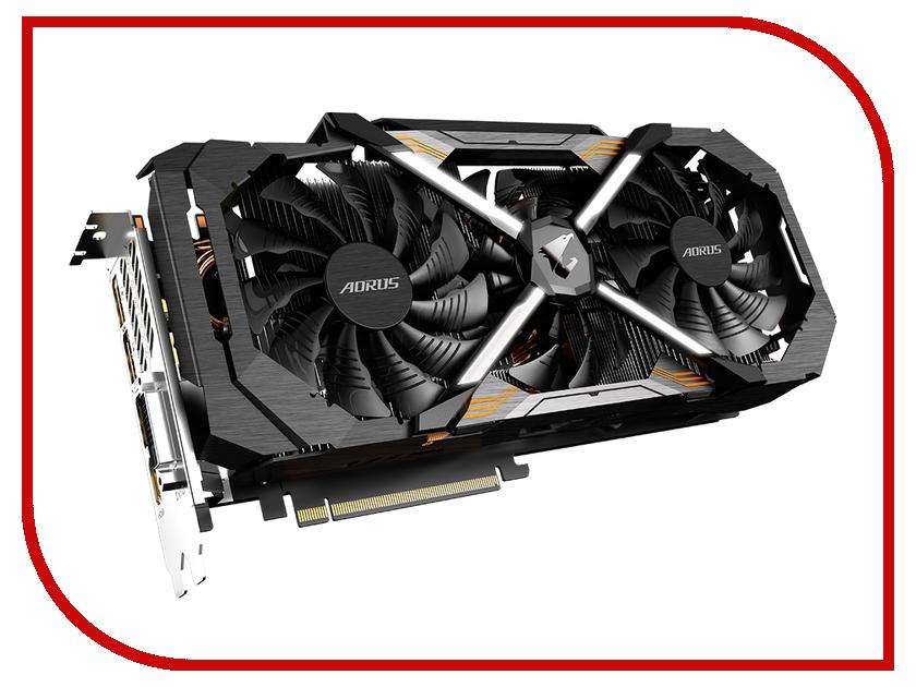 Видеокарта GigaByte GeForce GTX 1080 AORUS 1708Mhz PCI-E 3.0 8192Mb 10010Mhz 256 bit DVI 3xHDMI HDCP GV-N1080AORUS-8GD видеокарта gigabyte geforce gtx 750ti 2g