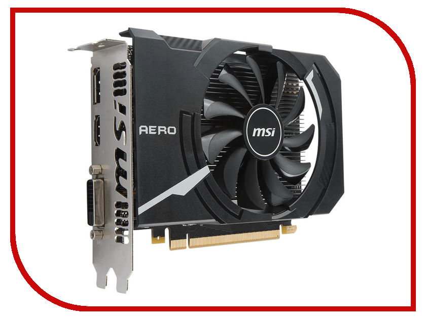Видеокарта MSI GeForce GTX 1050 1404Mhz PCI-E 3.0 2048Mb 7008Mhz 128 bit DVI HDMI HDCP GTX 1050 AERO ITX 2G OC/ GTX 1050 AERO ITX 2G OCV1 aero 15 6