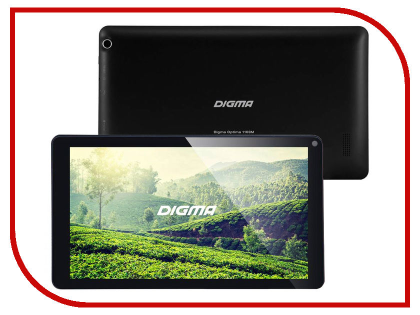 Планшет Digma Optima 1103M Black TS1074AW (Allwinner A33 1.2 GHz/1024Mb/8Gb/Wi-Fi/Cam/10.1/1024x600/Android) 390137