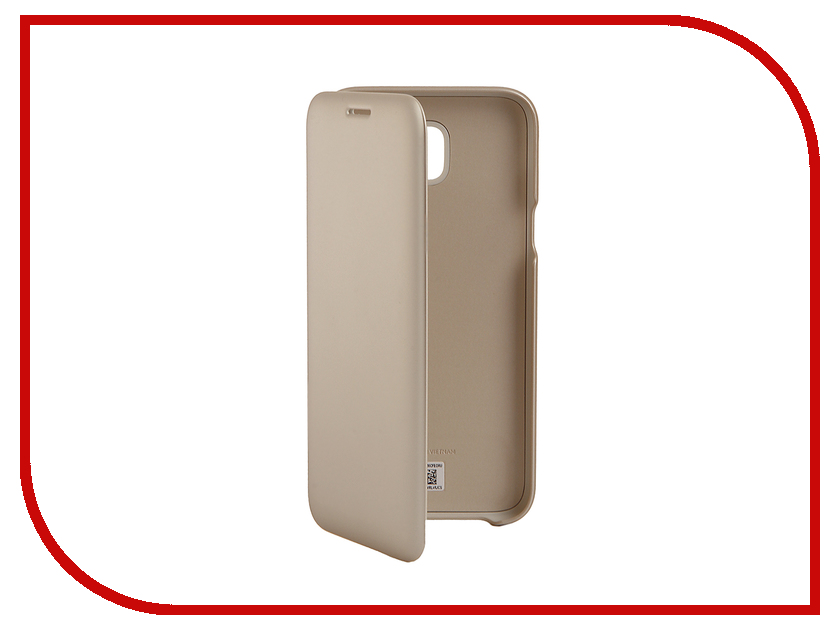 Аксессуар Чехол Samsung Galaxy J5 2017 SM-J530 Wallet Cover Gold SAM-EF-WJ530CFEGRU аксессуар чехол samsung galaxy j5 2017 sm j530 layer cover pink sam ef pj530cpegru