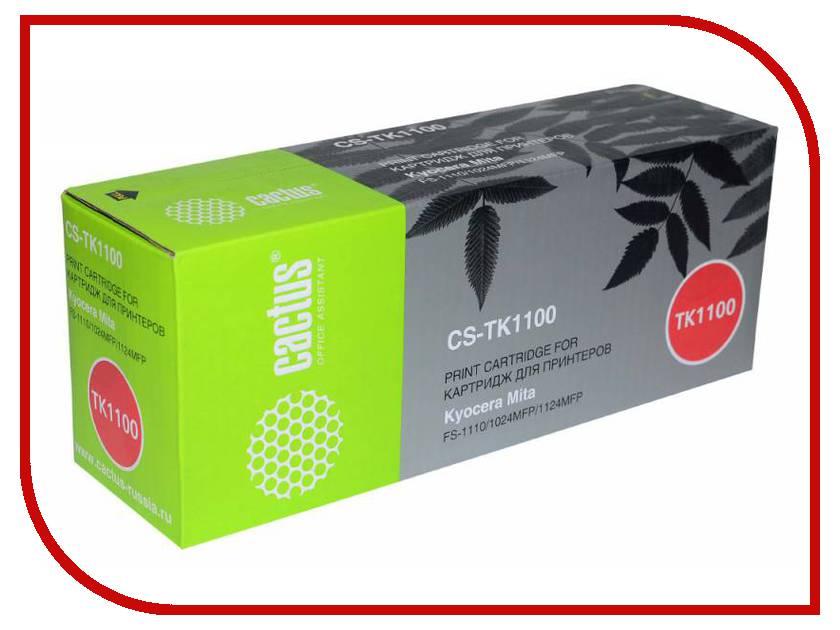 Картридж Cactus Black для Mita FS-1110/1024MFP/1124MFP картридж kyocera tk 1100 для fs 1024mfp 1124mfp 1110 черный 2100стр